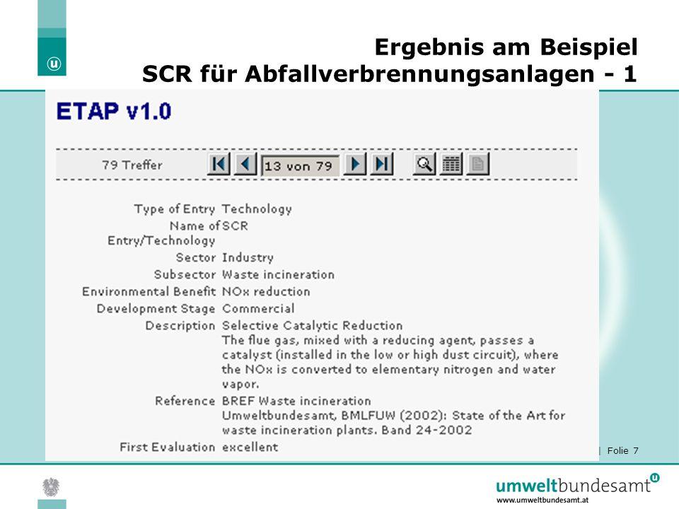 02.04.2015| Folie 8 Ergebnis am Beispiel SCR für Abfallverbrennungsanlagen - 2