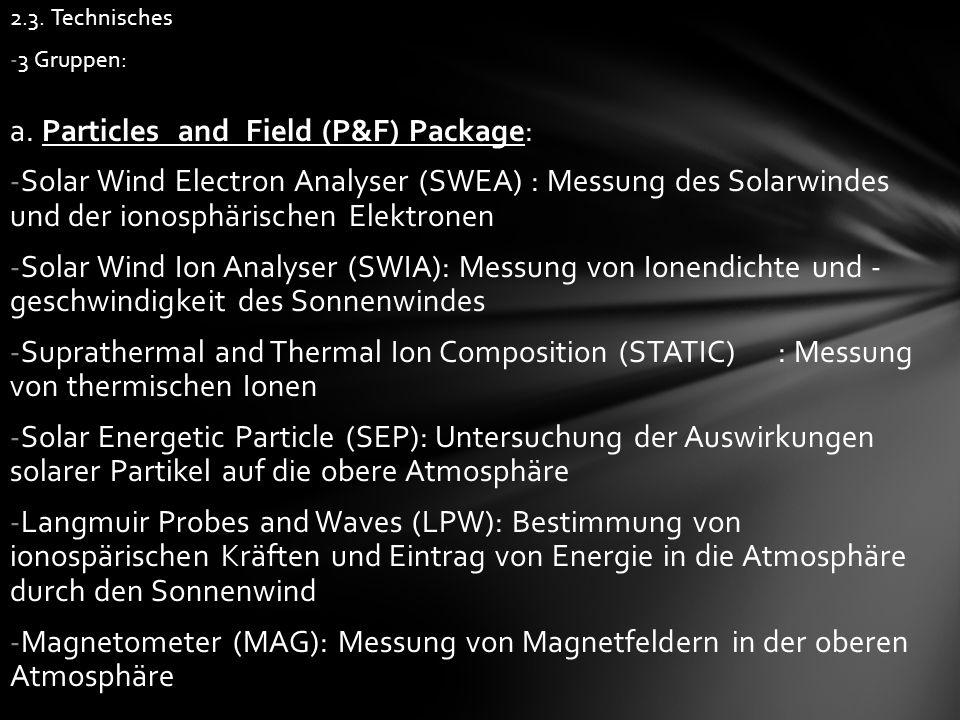 2.3. Technisches -3 Gruppen: a.