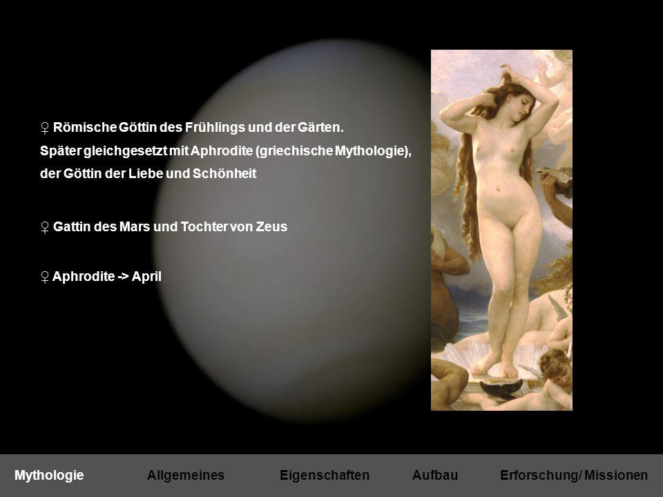 ♀ Erdähnlicher Planet (terrestrisch) ♀ Zeichen der Venus -> Zeichen für das weibliche Geschlecht ♀ Innerer Planet ♀ 3.