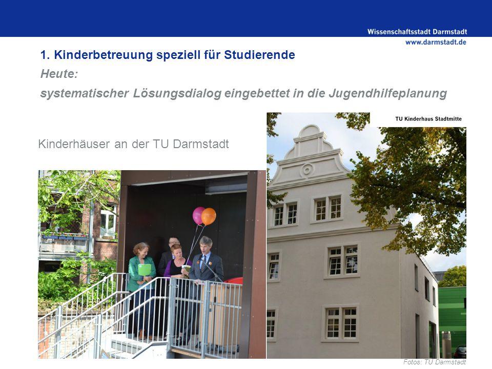 Kinderhäuser an der TU Darmstadt Fotos: TU Darmstadt 1.