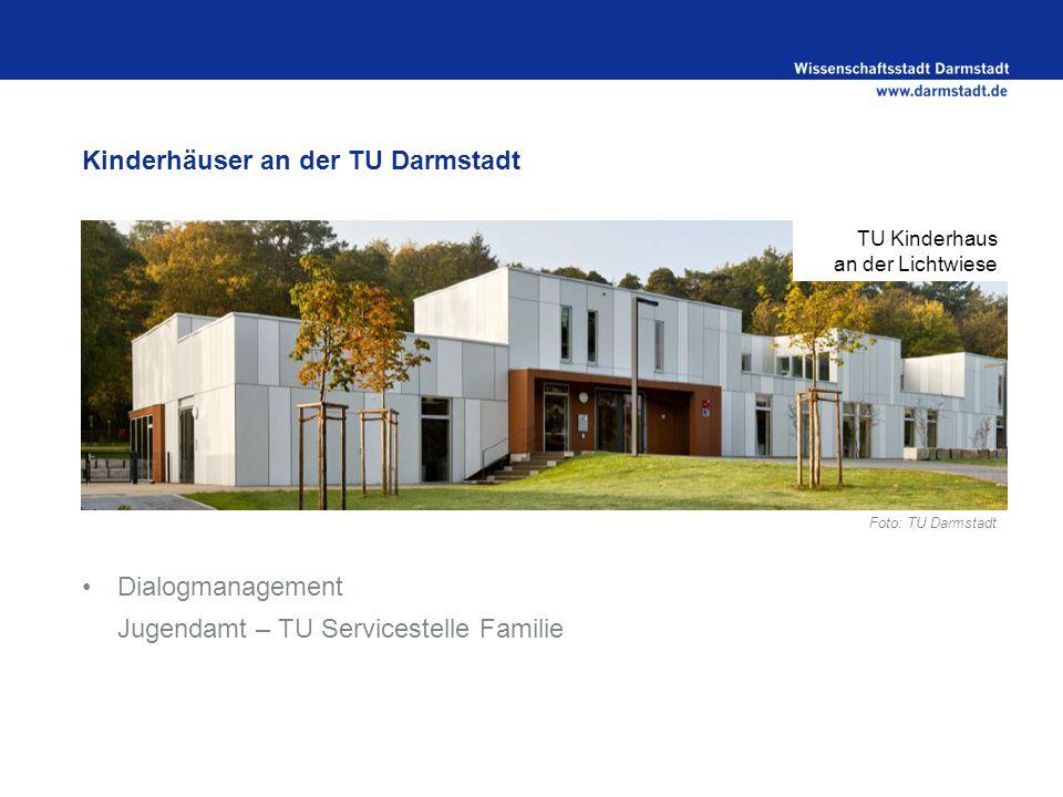 Kinderhäuser an der TU Darmstadt Dialogmanagement Jugendamt – TU Servicestelle Familie TU Kinderhaus an der Lichtwiese Foto: TU Darmstadt