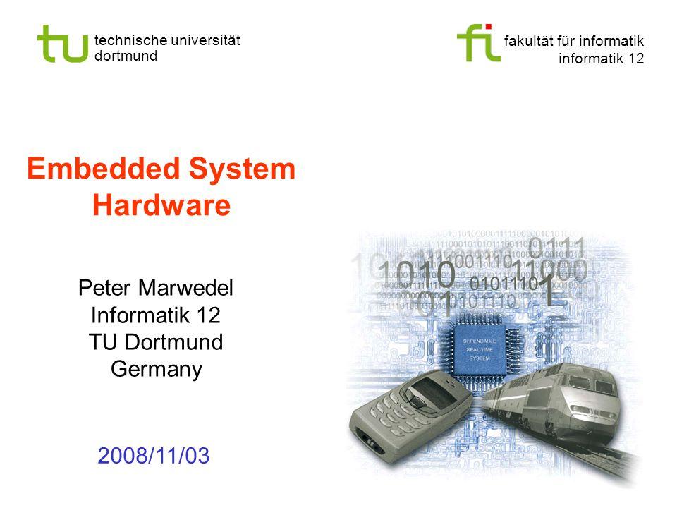 - 12 - technische universität dortmund fakultät für informatik  p.marwedel, informatik 12, 2008 TU Dortmund Artificial eyes (2) He looks hale, hearty, and healthy — except for the wires.