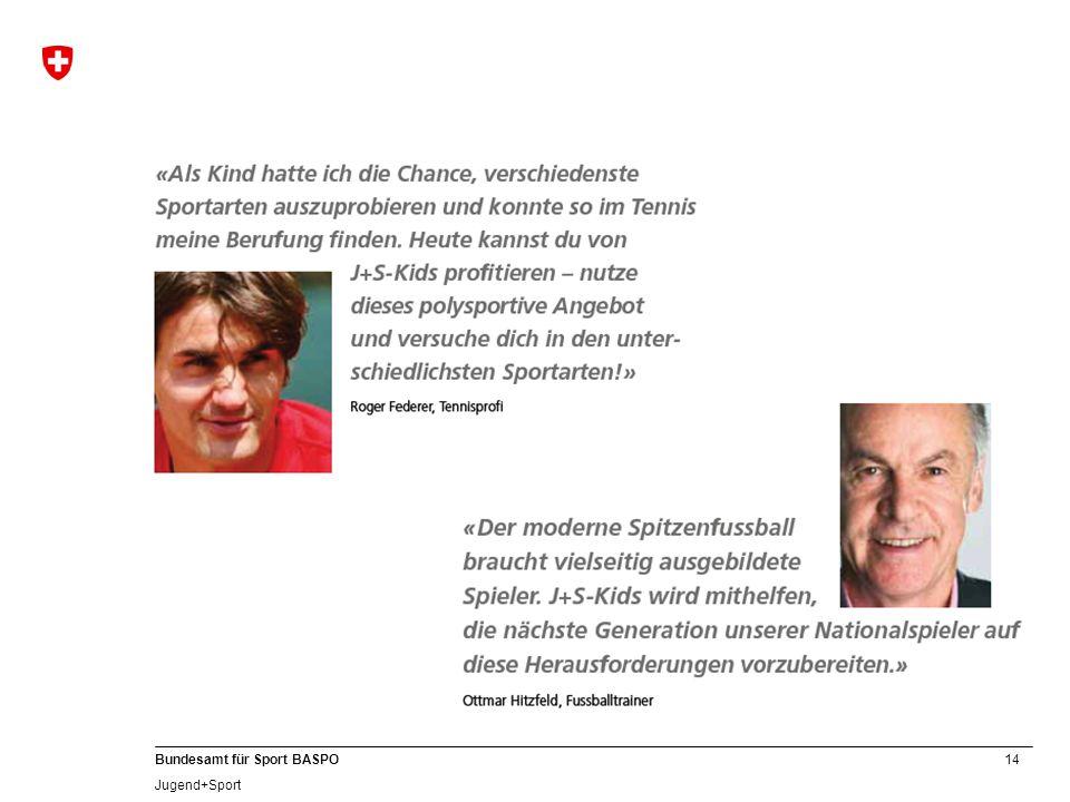 14 Bundesamt für Sport BASPO Jugend+Sport