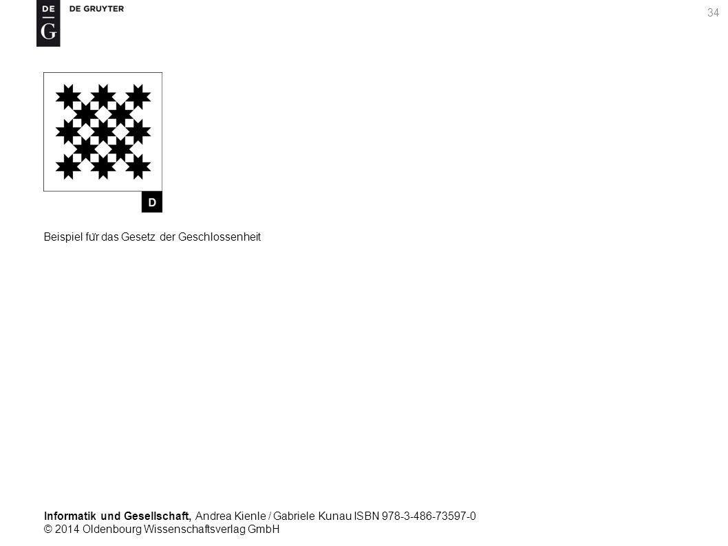 Informatik und Gesellschaft, Andrea Kienle / Gabriele Kunau ISBN 978-3-486-73597-0 © 2014 Oldenbourg Wissenschaftsverlag GmbH 34 Beispiel fu ̈ r das Gesetz der Geschlossenheit