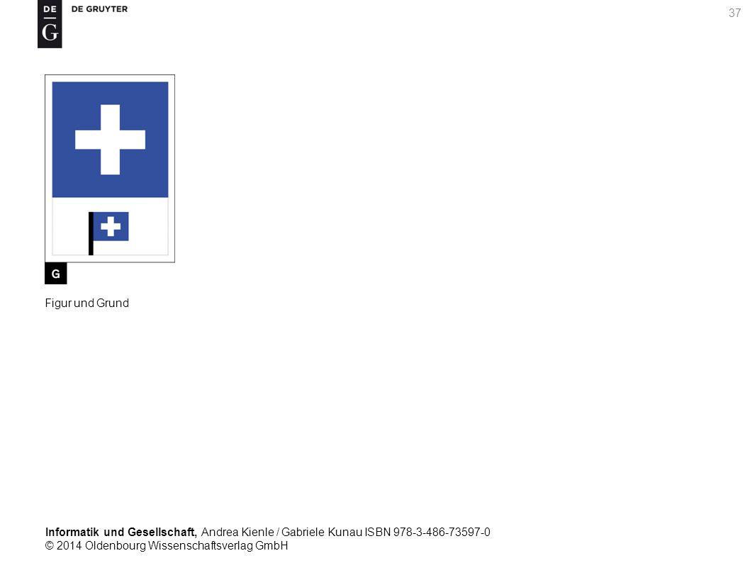 Informatik und Gesellschaft, Andrea Kienle / Gabriele Kunau ISBN 978-3-486-73597-0 © 2014 Oldenbourg Wissenschaftsverlag GmbH 37 Figur und Grund