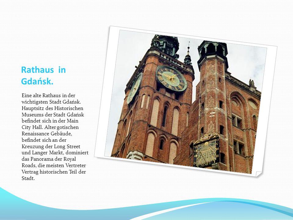 Rathaus in Gdańsk. Eine alte Rathaus in der wichtigsten Stadt Gdańsk. Hauptsitz des Historischen Museums der Stadt Gdańsk befindet sich in der Main Ci