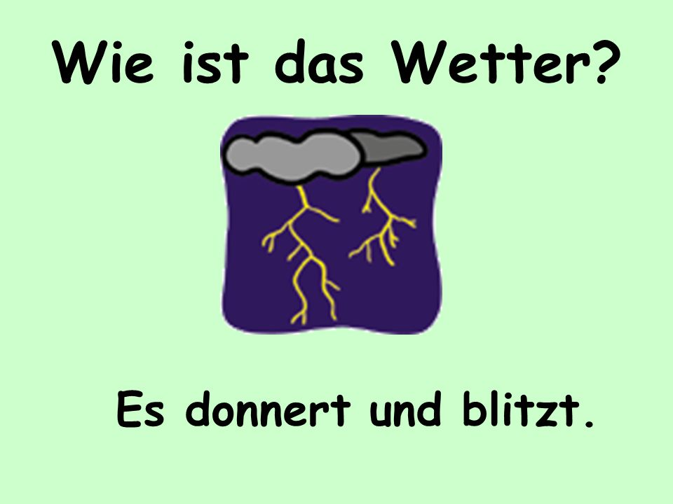 Wie ist das Wetter?