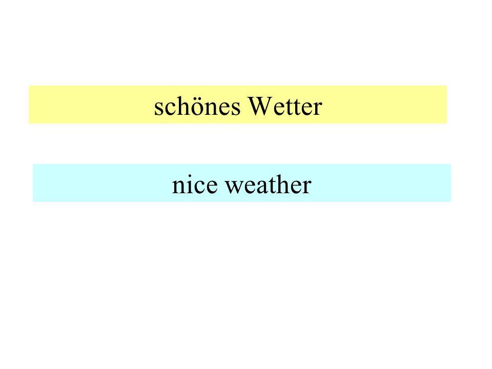 sonnig -- wolkig sunny -- cloudy
