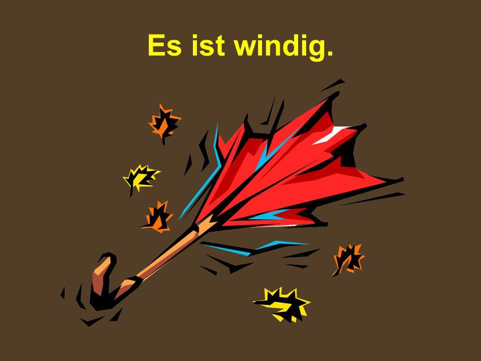 Wie ist das Wetter heute.Draußen friert es. Es ist windig.