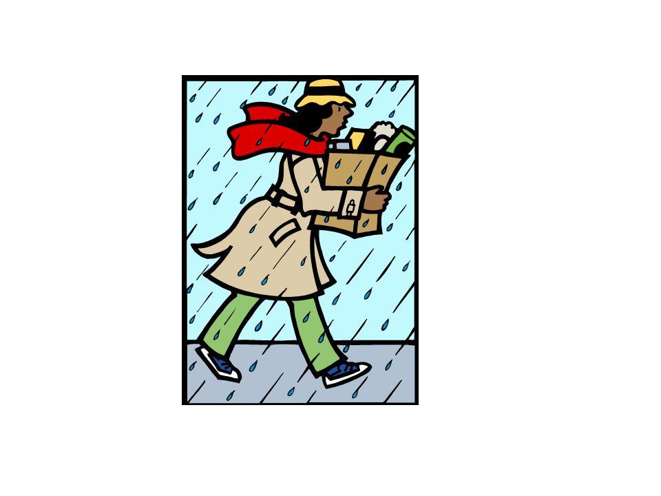 das Gewitter Es gewittert.