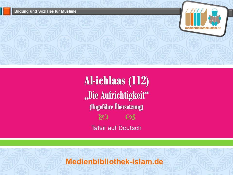  Tafsir auf Deutsch Medienbibliothek-islam.de