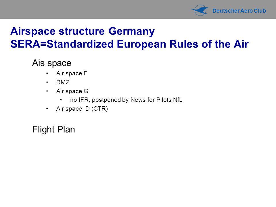 Deutscher Aero Club Visual Flight Rules Recital 97.