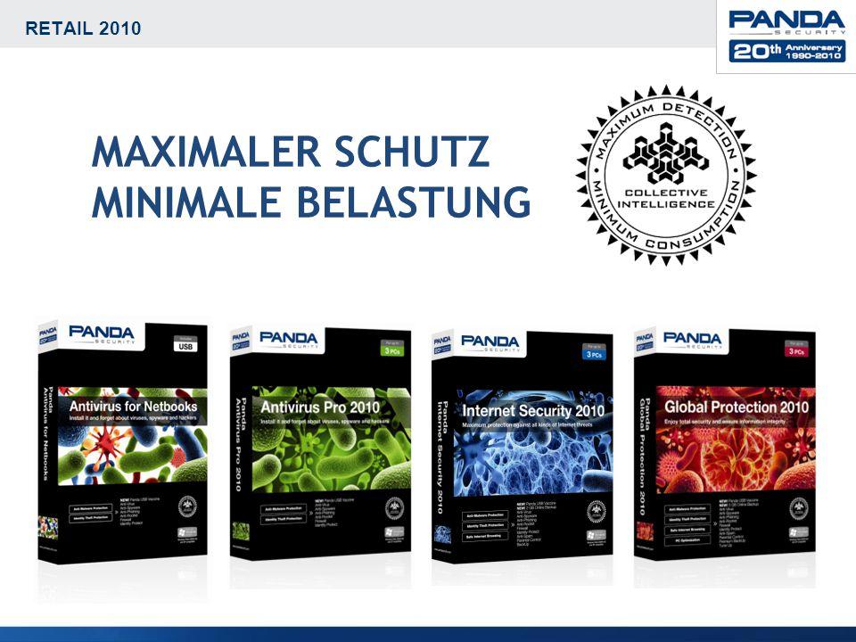 RETAIL 2010 MAXIMALER SCHUTZ MINIMALE BELASTUNG Nur 8 MB Speicherverbrauch