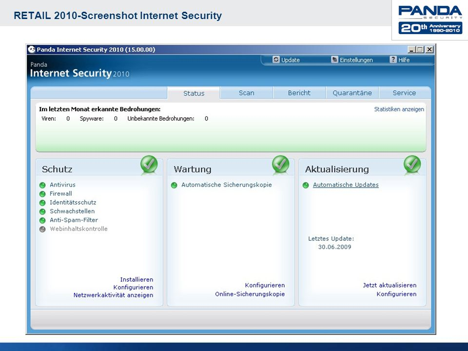 RETAIL 2010-Screenshot Internet Security 8