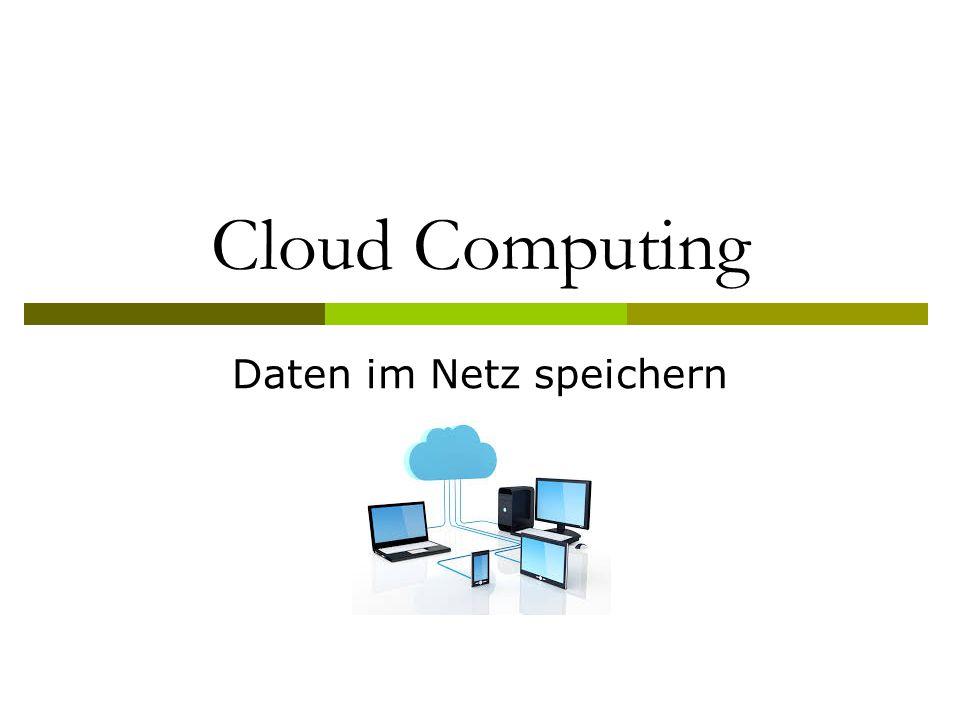 Cloud Computing Daten im Netz speichern