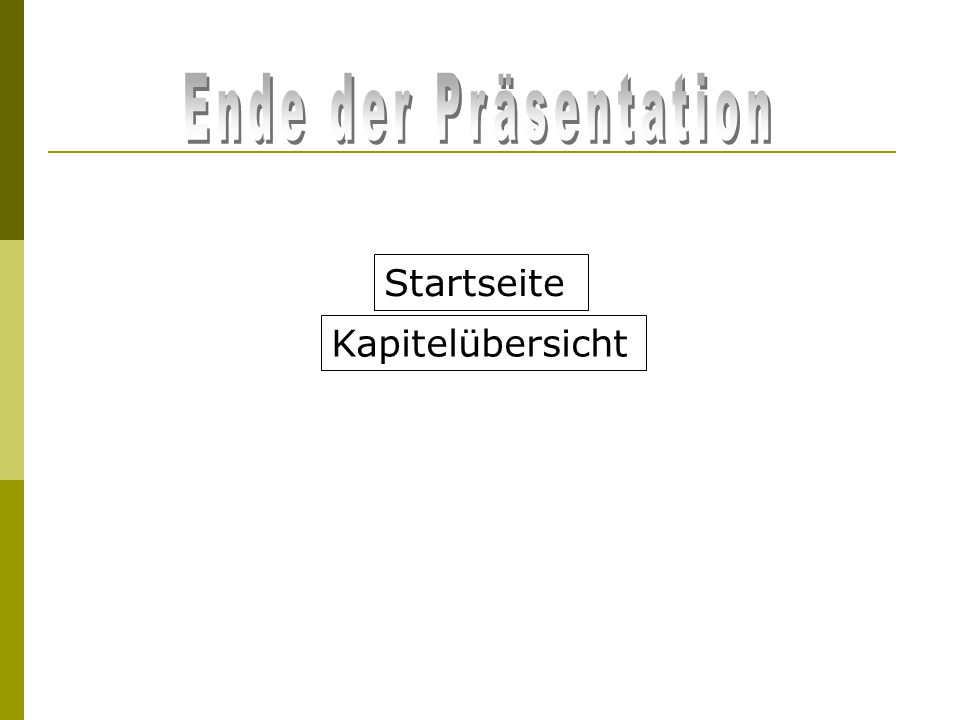 Kapitelübersicht Startseite