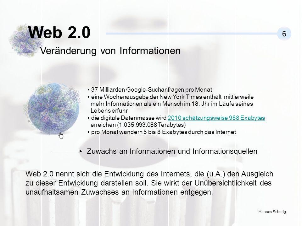 Hannes Schurig 37 Milliarden Google-Suchanfragen pro Monat eine Wochenausgabe der New York Times enthält mittlerweile mehr Informationen als ein Mensch im 18.