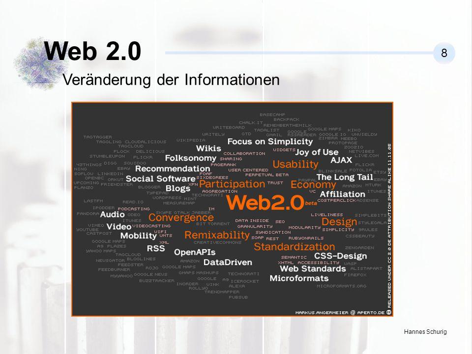 Hannes Schurig Web 2.0 8 Veränderung der Informationen
