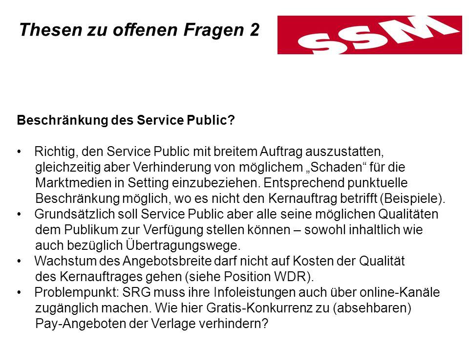 Beschränkung des Service Public.