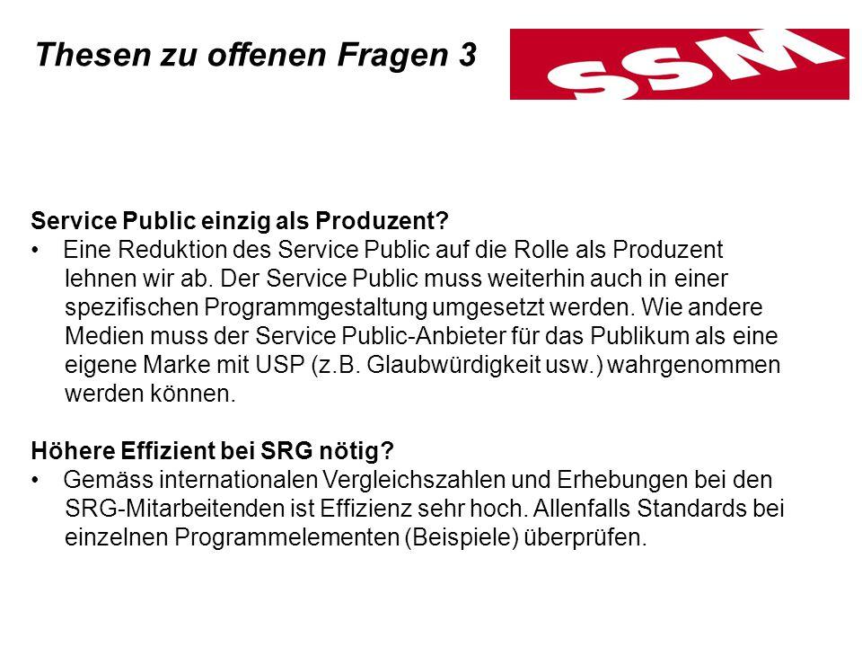 Service Public einzig als Produzent.