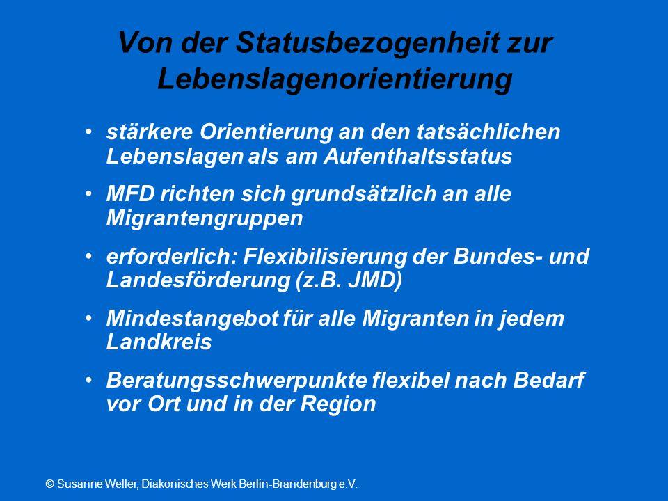 © Susanne Weller, Diakonisches Werk Berlin-Brandenburg e.V. Von der Statusbezogenheit zur Lebenslagenorientierung stärkere Orientierung an den tatsäch
