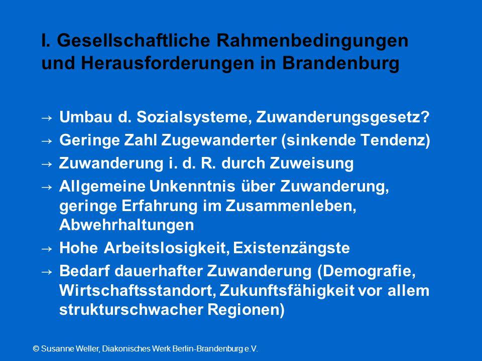© Susanne Weller, Diakonisches Werk Berlin-Brandenburg e.V. I. Gesellschaftliche Rahmenbedingungen und Herausforderungen in Brandenburg → Umbau d. Soz