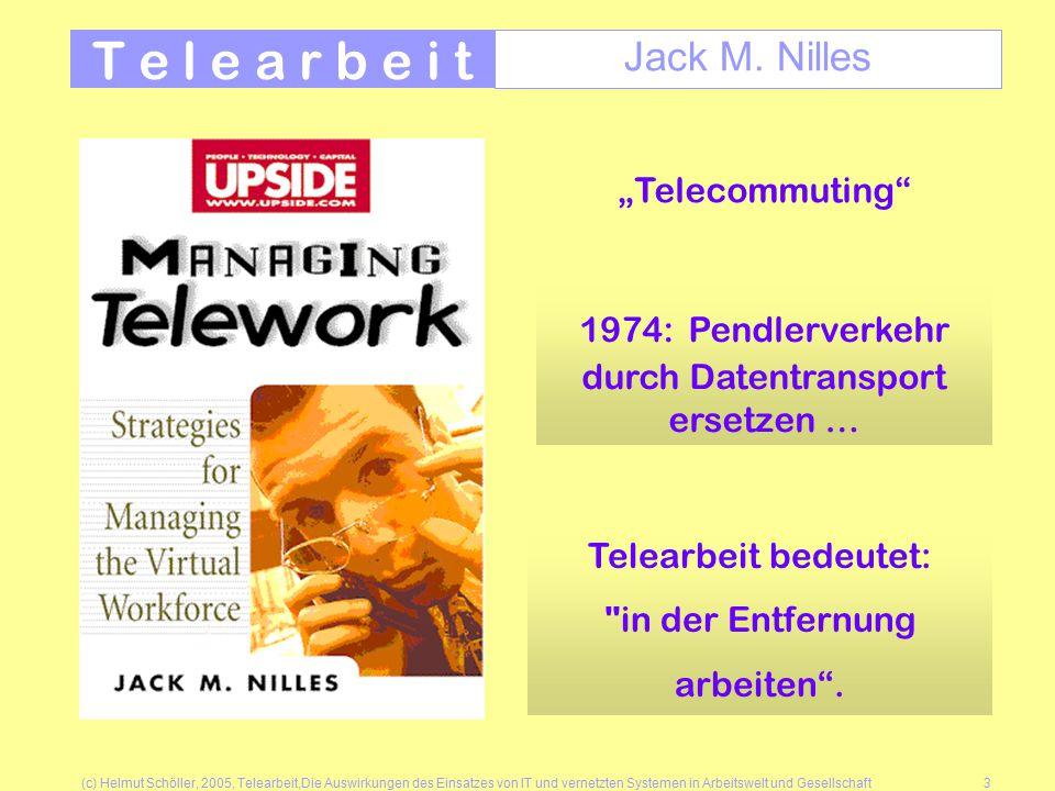 (c) Helmut Schöller, 2005, Telearbeit,Die Auswirkungen des Einsatzes von IT und vernetzten Systemen in Arbeitswelt und Gesellschaft3 T e l e a r b e i t Jack M.