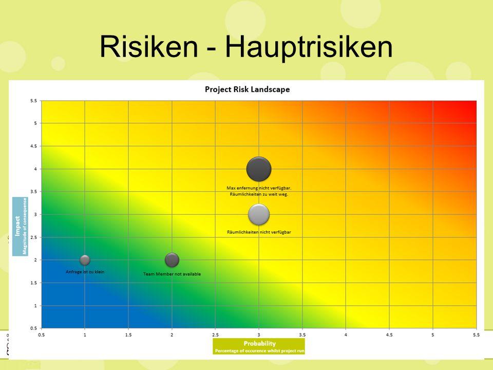 Risiken - Hauptrisiken