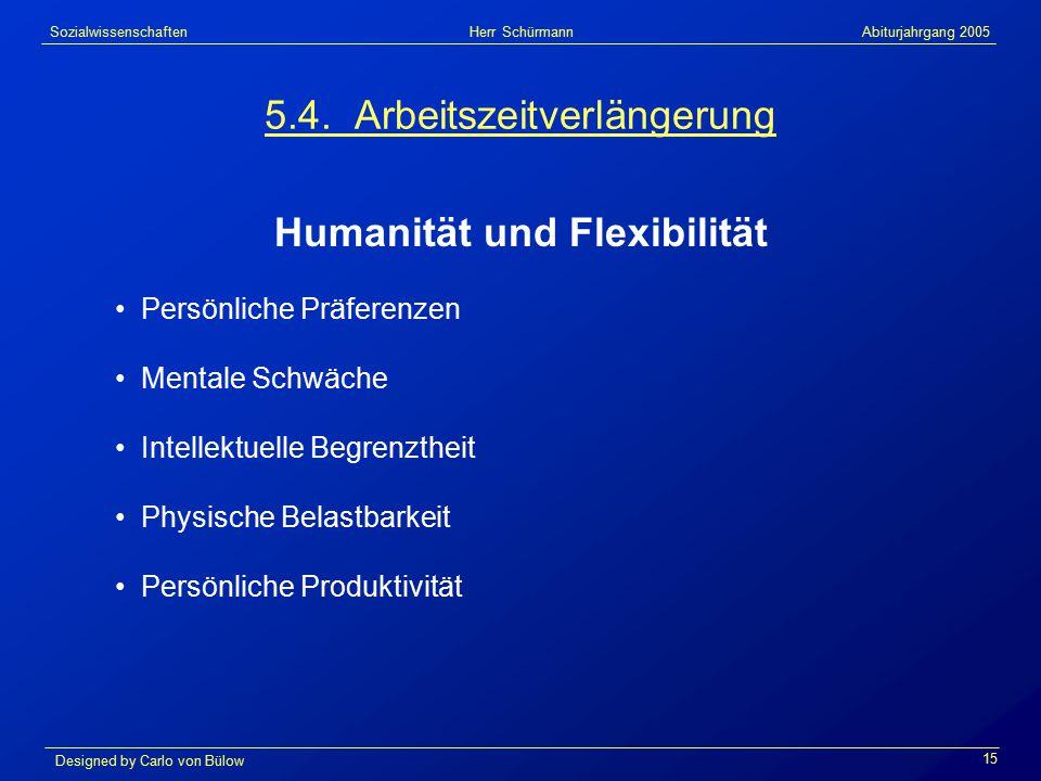 Sozialwissenschaften Herr Schürmann Abiturjahrgang 2005 Designed by Carlo von Bülow 15 5.4.