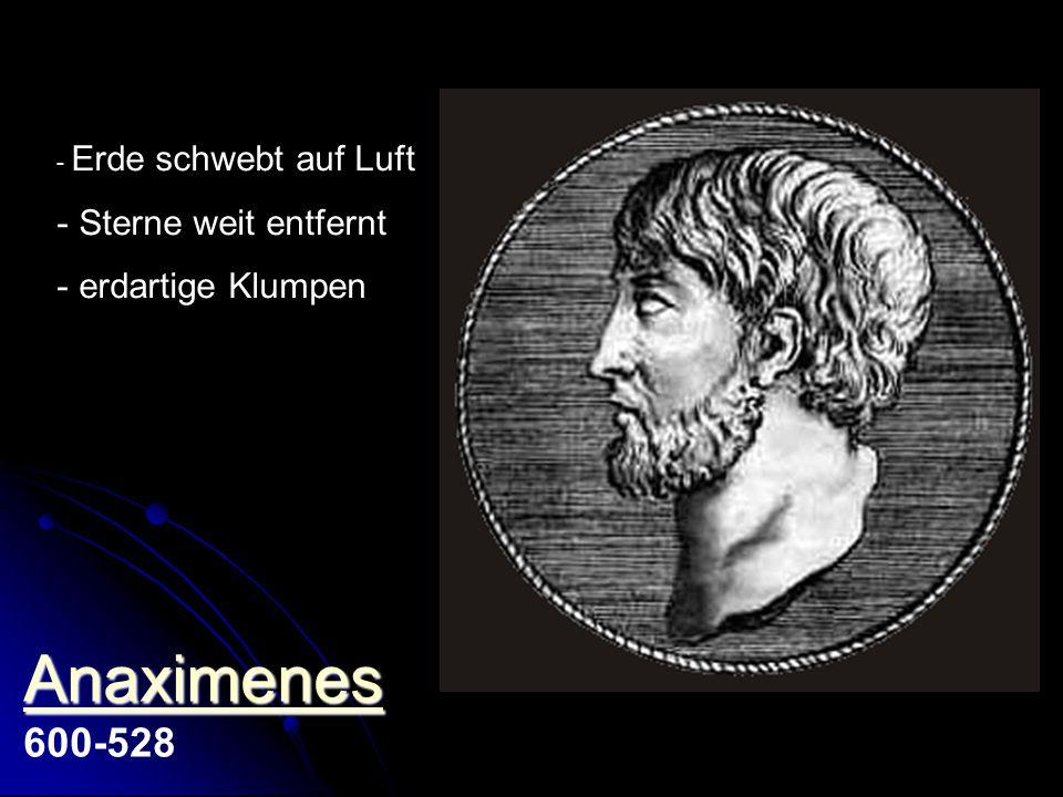 - Sonne entzündete Wolke - Sterne erlöschen morgens - Bewegung durch Geist Xenophanes Xenophanes Xenophanes von Kolophon 570-475