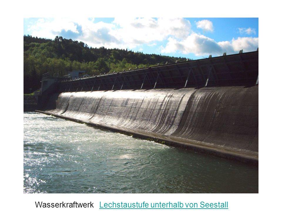 Wasserkraftwerk Lechstaustufe unterhalb von SeestallLechstaustufe unterhalb von Seestall