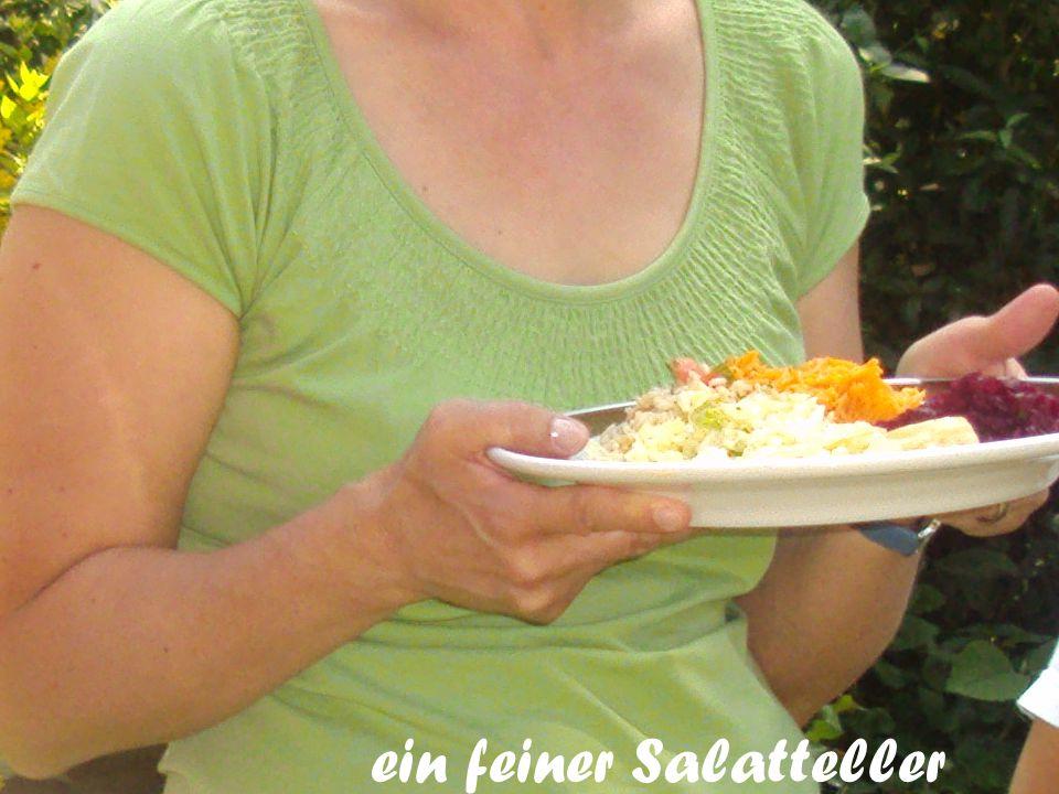 ein feiner Salatteller