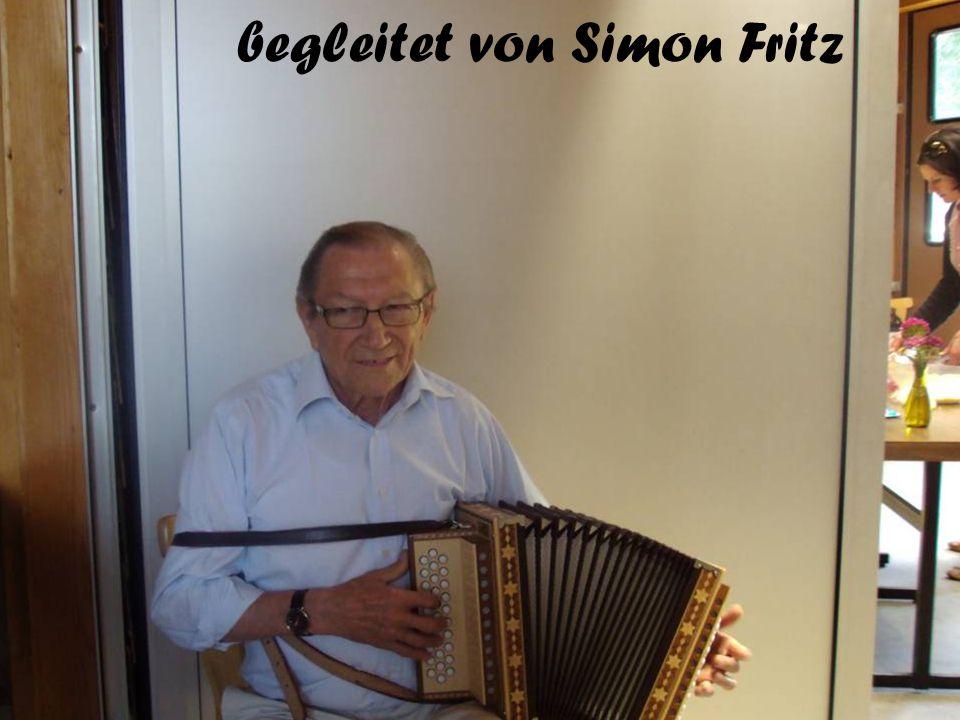 begleitet von Simon Fritz