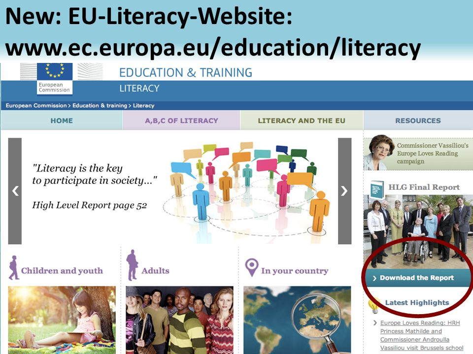 New: EU-Literacy-Website:   56