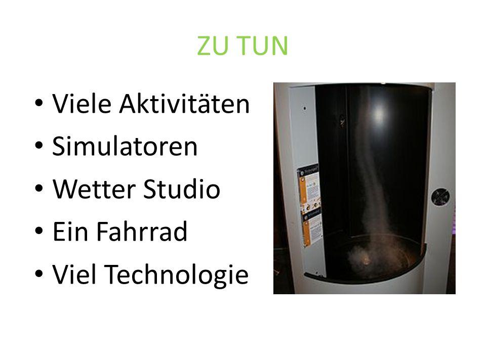 ZU TUN Viele Aktivitäten Simulatoren Wetter Studio Ein Fahrrad Viel Technologie