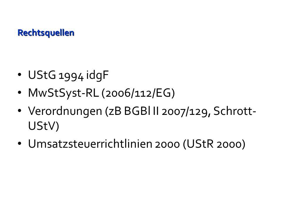 UStG 1994 Grundlagen