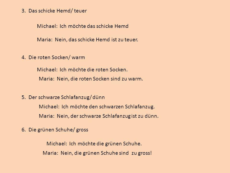 7.Der modische Hut/ klein 8. Die schwarzen Winterstiefel/ leicht 9.