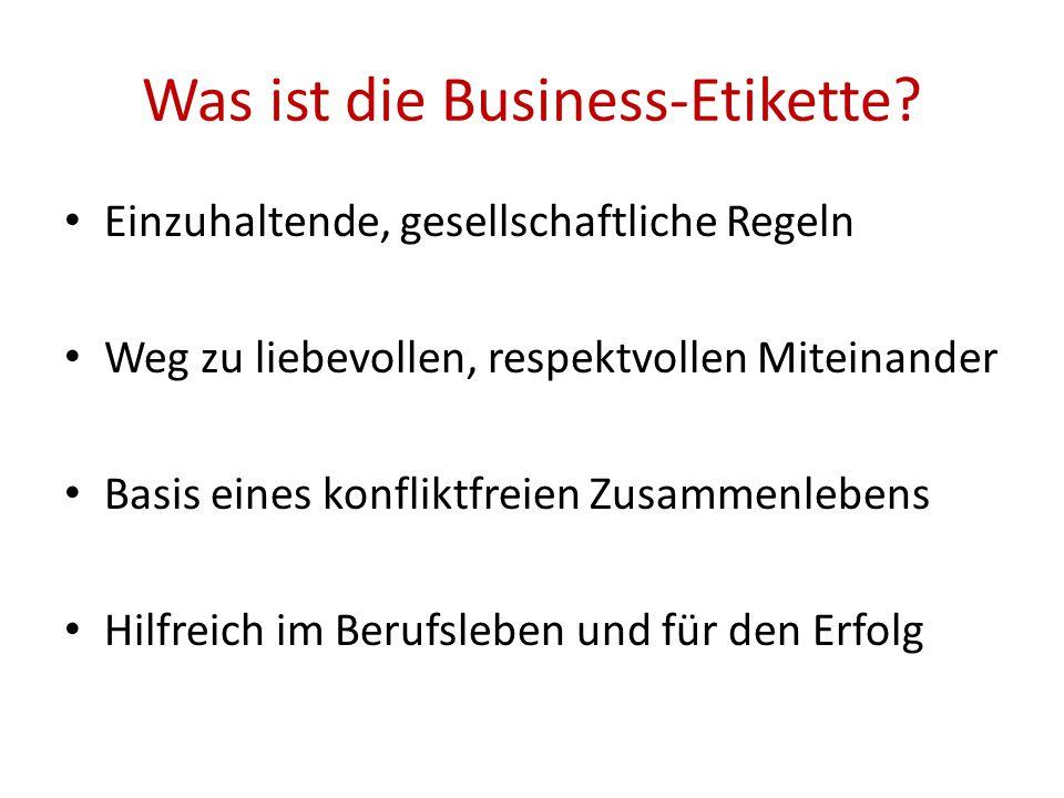 Was ist die Business-Etikette.