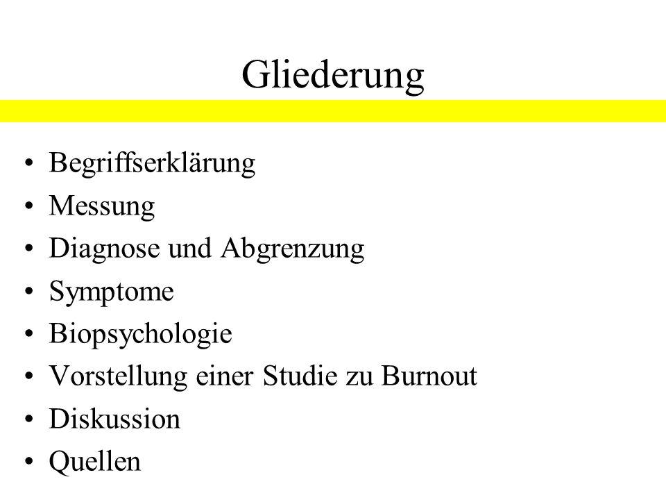 """Burnout FoV """"Psychoneuroendokrinologie und Psychosomatik WS 2007/08 Referat von Birgit Roß Begriffserklärung"""