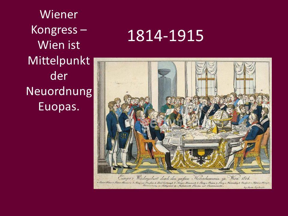 1900 Wien wird zum Zentrum des Jungendstils (Kunstlervereinigung Secession).
