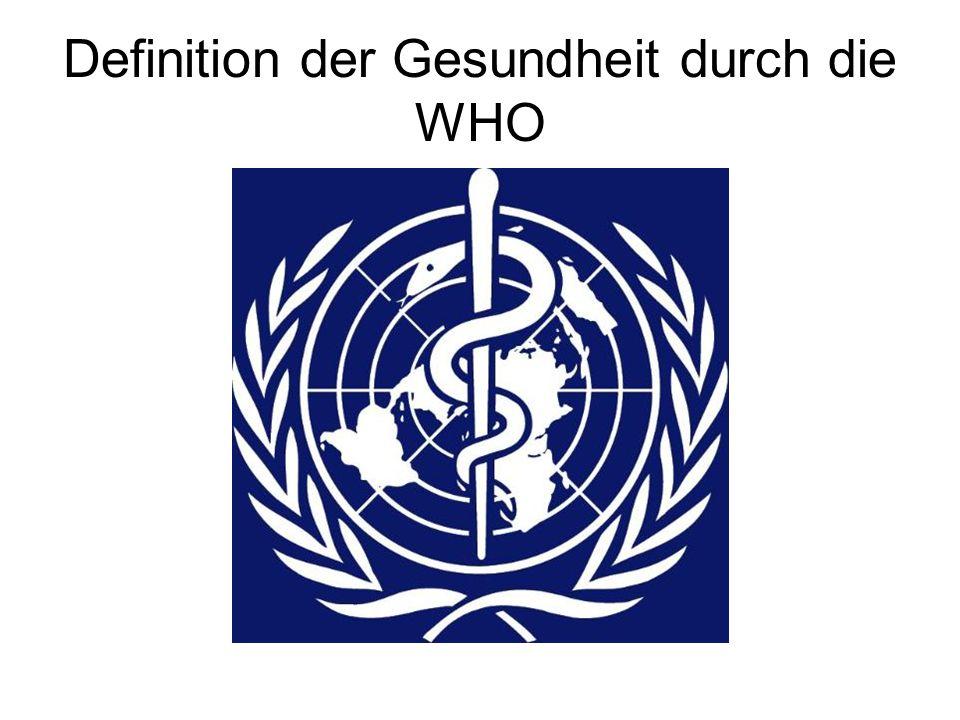 Definition der Gesundheit durch die WHO