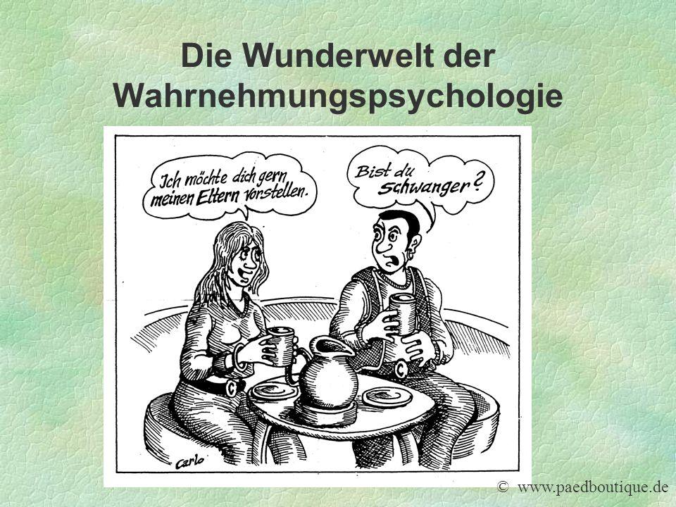 Die Wunderwelt der Wahrnehmungspsychologie © www.paedboutique.de