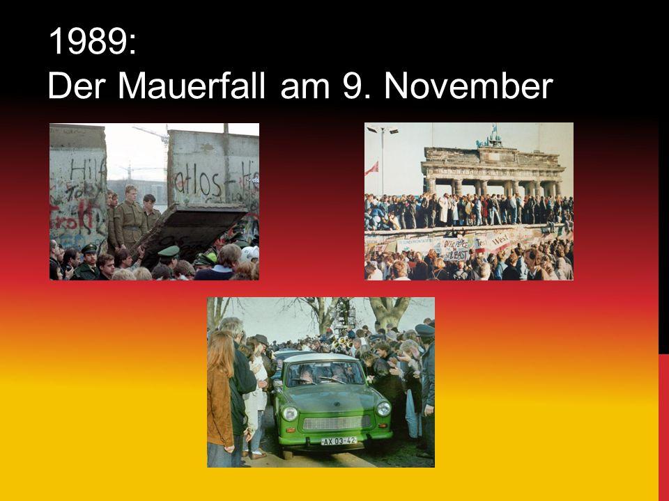 1989: Der Mauerfall am 9. November