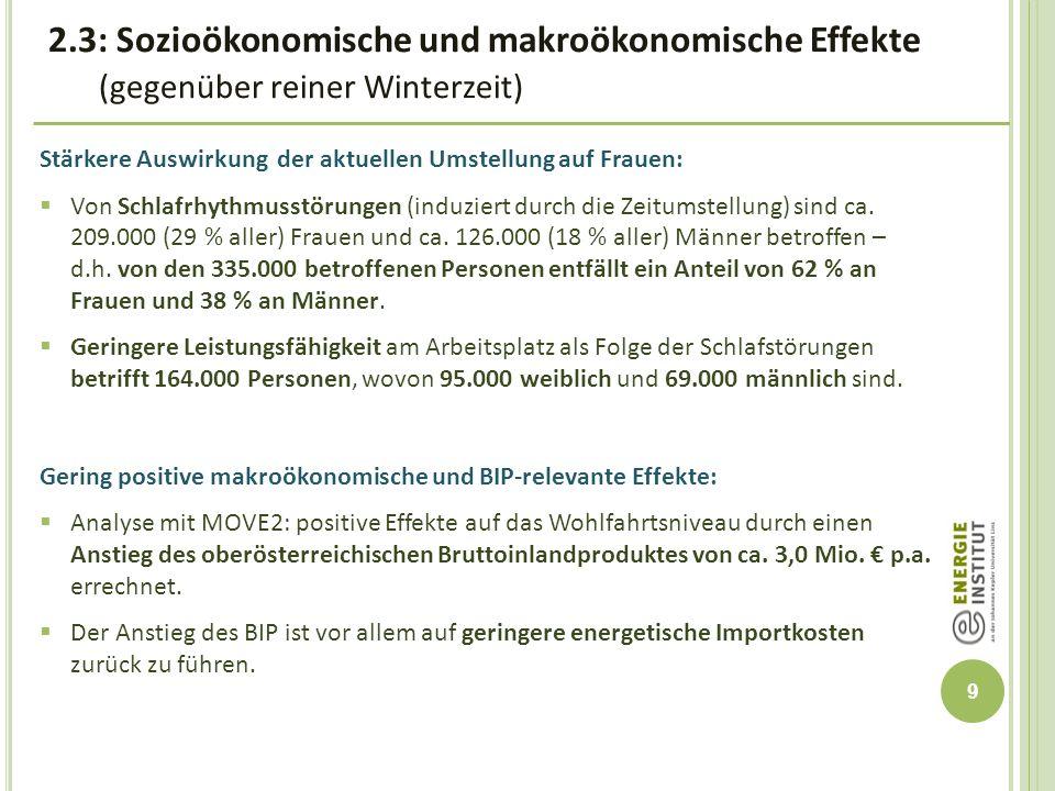 10 3.Ganzjährige Sommerzeit – ein optimales Zeitmodell für Oberösterreich.