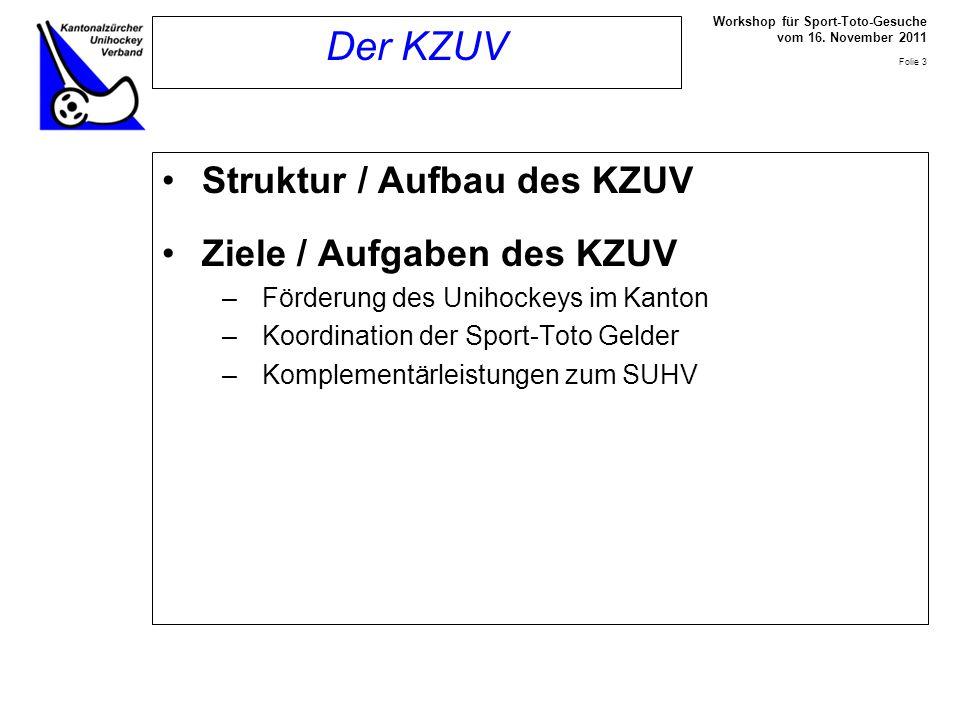 Workshop für Sport-Toto-Gesuche vom 16.November 2011 Folie 4 Sport-Förderer Nr.