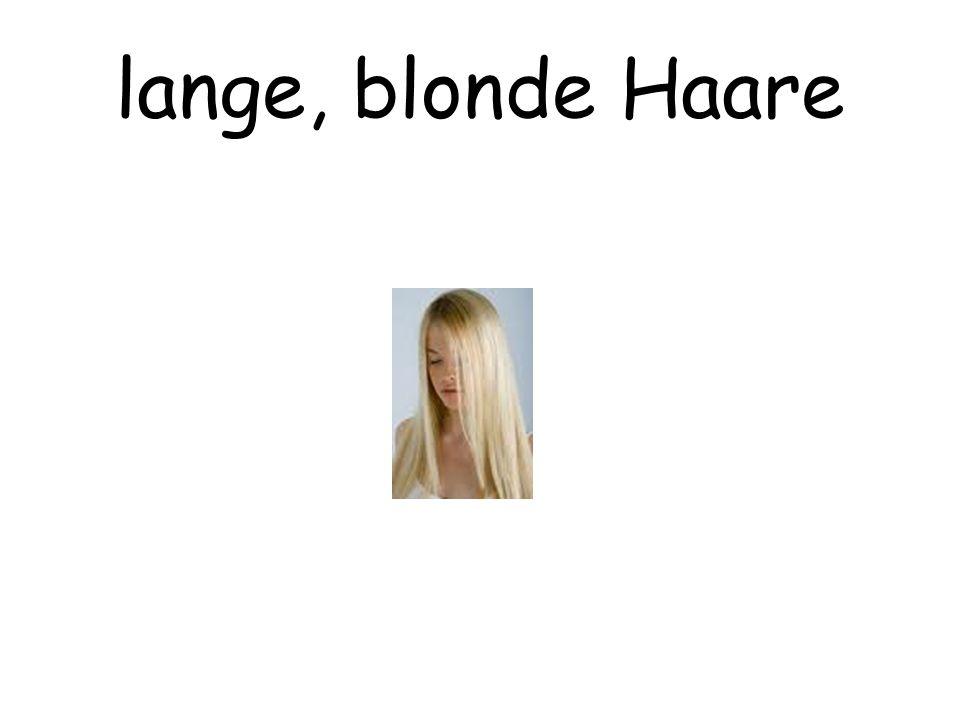 lange, blonde Haare