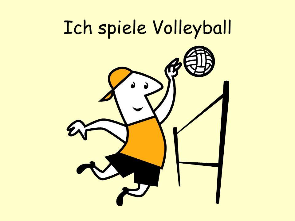 Ich spiele Volleyball
