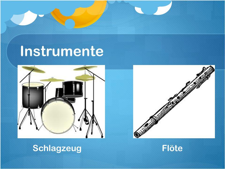 Instrumente SchlagzeugFlöte