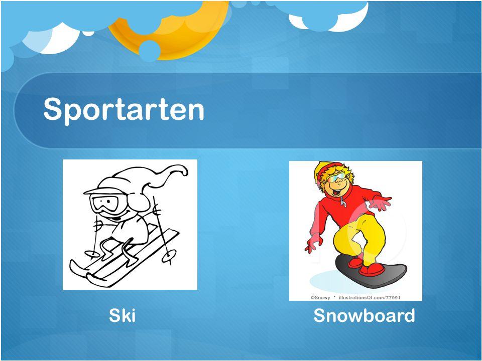Sportarten SnowboardSki