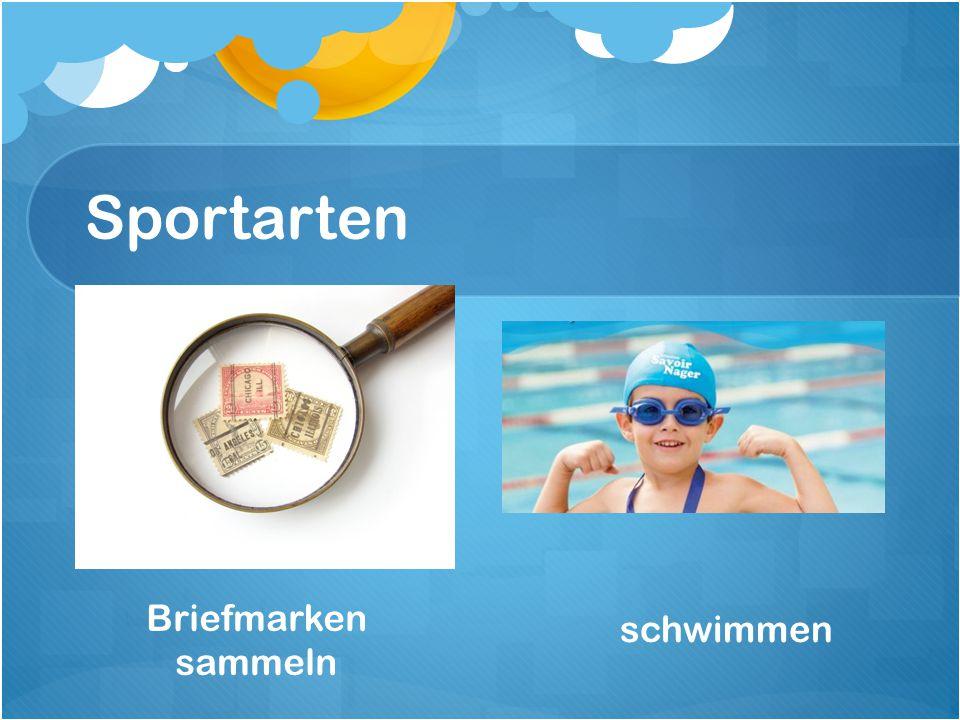 Sportarten schwimmen Briefmarken sammeln
